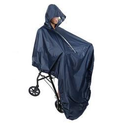 LAFGUR Hooded Wheelchair Rain Cover Waterproof Soft Wheelchair Rain Coat, Hooded Wheelchair Rain Cover, Soft Wheelchair Rain Coat
