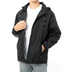 Men's Rain Jacket Raincoat Windbreaker Waterproof Hooded Windbreaker Lightweight Hooded Raincoat