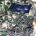 Mgaxyff Foldable Camping Seat,Portable Folding Stool Aluminum Alloy Foldable Fishing Chair Outdoor Camping Seat,Folding Stool