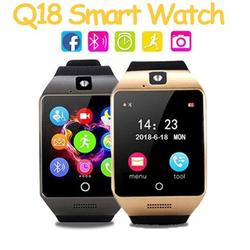 Reloj Q18 Bluetooth Camera Smart Watch 2021 With Touch Screen Support TF Sim Card Smartwatch Android Men Women Wearable Watch