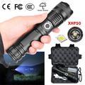 USB Rechargeable Flashlight,XHP50 Zoom Flashlight Aluminum Aalloy Retractable Flashlight,5 modes,LED Light Portable Outdoor Lighting Flashlight
