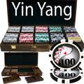 500ct. Yin Yang 13.5g Poker Chip Set in Walnut Wood Carry Case