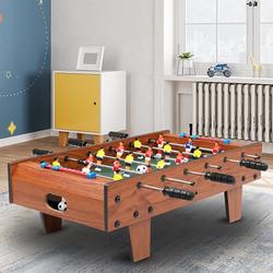"""Tabletop Foosball Table, YOFE 27"""" Home Foosball Table Game, Foosball Table w/ 2 Footballs, Wooden Competition Soccer Game Table for Kids Adults, Mini Soccer Game Table for Game Room, Wood Color, R5463"""