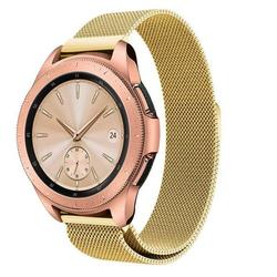 GoldCherry Band for Samsung Galaxy Watch 42mm/Active 2 40mm 44mm/Gear S2 Classic Women,20mm Milanese Mesh Woven Stainless Steel Watchband Quick Release Strap Bracelet(Gold)