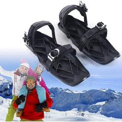 Outdoor Portable Snowboard Light Weight Mini Sled Snow Board Ski Boots Ski Shoes Combine Skates with Skis for Women/Men Adults