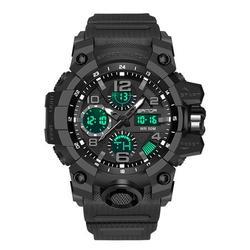 Men's Watch, EEEkit Men's Military Watch Outdoor Sports Electronic Watch Tactical Army Wristwatch LED Stopwatch Waterproof Digital Analog Watches