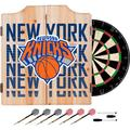 NBA Dart Cabinet Set with Darts and Board - City - New York Knicks