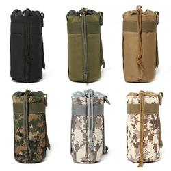 SPRING PARK Outdoor Portable Camouflage Oxford Cloth Military Water Bottles Traveling Camping Hiking Kettle Bag for Sports Camping Hiking Fishing