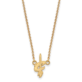 LogoArt 10 Karat Yellow Gold NBA Cleveland Cavaliers Small Pendant with Necklace