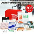 222Pcs First Aid Kit SOS Survival Kit Home & Outdoor SOS Survival Kit, Emergency Equipment Supplies, First Aid Survival Gear Tool Tactics Kits for Camping, Hunting, Outdoor Hiking Survival