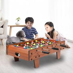 """YOFE Tabletop Foosball Table, 27"""" Home Foosball Table Game, Foosball Table w/ 2 Footballs, Wooden Competition Soccer Game Table for Kids Adults, Mini Soccer Game Table for Game Room, Wood Color, R5468"""