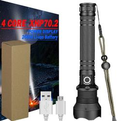 Tomshine USB Rechargeable Flashlight High Lumen LED Three Modes Zoomable Waterproof Handheld Torch Light for Camping Emergency Hiking Fishing (Battery and Include)