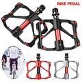 """1 PAIR Anti-skid Bike Pedals for MTB Road Bicycle Lightweight Flat Platform 3 Bearings Pedal for Cycling Aluminum Alloy Universal 9/16"""""""
