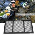 Mgaxyff Outdoor BBQ Table,Folding Grill Wire Mesh,Outdoor Folding Mini Table Portable Camping Picnic Integrated Storage Grill Rack Iron