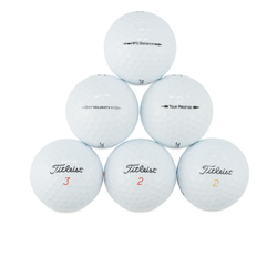 50 Titleist AAAA Near Mint Used Golf Balls with Tote Bag