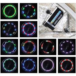 LED Bike Wheel Lights - Waterproof Bicycle Wheel Lights, Ultra Bright Bike Spoke Lights Bike Tire Lights, Safety Adult and Kids Bike Accessories, Cool 14 LED 30 Patterns Bike Lights for Wheels(1