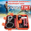 KWANSHOP Survival Gear Emergency Survival Kit Outdoor Camping Car Roadside Survival Gear Kit - Multi-Purpose Updated Tactics Kit - Tactics Military Tool