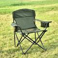 Dasun Oversized Camping Chair with Cooler Bag Folding Camping Portable Chair Steel Frame Collapsible Support 350 lbs Net Weight 11lbs