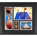 RJ Barrett New York Knicks Framed 15'' x 17'' Player Collage with a Piece of Game-Used Basketball - Fanatics Authentic Certified
