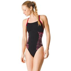 Speedo Women's Swimsuit One Piece Endurance+ Flyback Color Block Adult Team Colors,Flowforce Speedo Red,32, 100% Other Fibers By Visit the Speedo Store