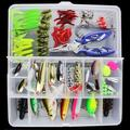 101 PCS/Set Fishing Lures Tackle Mixed Hard Baits Soft Baits Popper Crankbait VIB Fishing Lures Hooks Set with Box MZ