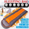 [1kg-2kg Load] Temp Ranges (-5℃ - 20 ℃) 220x85CM 4 Seasons Portable Winter Sleeping Bag Warm Cold Weather Waterproof Envelope Sleeping Bed with Compression Sack for Adults Kids Outdoor Camping Hiking