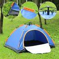 Automatic Open Up Tent, Automatic Instant Camping Tent, Portable Beach Tent, 2-3 People, Double Door Water Resistant, UV Protection Sun Shelter, Carry Bag and Mosquito Net Included