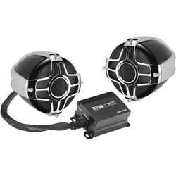 BOSS Audio Systems MC440B Motorcycle Weatherproof Speaker System - Bluetooth 2 Channel Compact Amplifier, 3 Inch Speakers, Volume Control, Use With ATV.., By Visit the BOSS Audio Systems Store