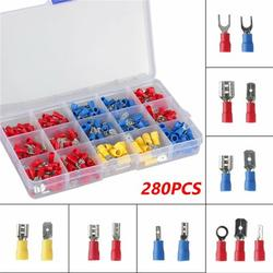 280Pcs Mixed Terminal Connector Insulated Electrical Wire Crimp Connector Assortment Kit for Marine Automotive