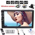 7 Inch 2Din Bluetooth MP5 Player HD Touch Screen double din Car MP5 Player Audio Video with 3 color button back light Screen head unit in dash Car Video Player no DVD/CD function+wireless re