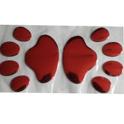 1 Pair PVC Bear Paw Dog Car Stickers Car Stickers Personality Scratch Stickers Personality Creative Adhesive Stickers