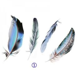 4/pcs 3D Car Sticker 21cm * 15cm 3d Animals Stickers Prints feather 3M Decal Car Sticker and Decal