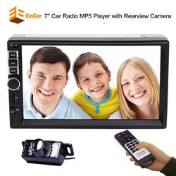 """""""Double 2 Din Car Stereo Radio Autoradio Universal 7"""""""" Inch Capacitive Multi-touch Screen MP5 Player Audio Video Input Aux Input Rear View Camera Input Hand Free Bluetooth Steering Wheel Contr"""""""