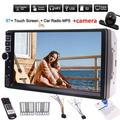 2Din double din Radio stereo Car MP5 Player in dash Touch Screen Auto Audio Stereo head unit car Multimedia player car pc system support FM/MP5/USB/AUX/Bluetooth+wireless remote control+Rear