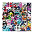 50pcs Cartoon Game Am_ngUs Stickers car Sticker for Snowboard Motorcycle Bicycle Phone Computer DIY Keyboard Car Window Bumper Wall Luggage Decal Graffiti Patches