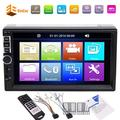 """""""7"""""""" Inch Capacitive Touch Screen Double 2 Din In Dash Car Stereo Radio Autoradio Car Radio MP5 Player Bluetooth Hand Free FM Radio Function Steering Wheel Control Rear View Camera Input funct"""""""