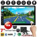 Car Stereo 7 Inch 2 Din GPS Navigation with Touch Screen Double Din Car Radio Head Unit 2 Din Car Video Player Support AVI, MP4, FLV, PMP, RM, RMVB