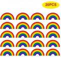 20 PCS Arch Rainbow Car Stickers Bumper Stickers Self Adhesive Peel Stick Vinyl Stickers Automobiles Exterior Accessories,Fun Craft Stickers