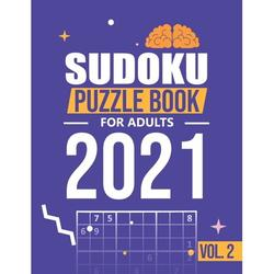 Sudoku 2021: Sudoku puzzle books for adults 2021: 300 Medium Sudoku Puzzles For Every Day Of The Year (2021 Sudoku Puzzle Books For Adults and smart kids 1 Puzzles Per Page) Vol. 2 (Paperback)(Large P