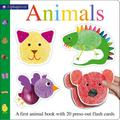 Alphaprints Animals Flash Card Book : A first animal book with 20 press-out flash cards