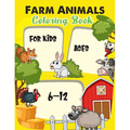 Farm animal coloring book for kids ages 6-12 : A Farm animal Coloring Book with Fun, Easy, Adorable Animals, Farm Scenery, Relaxation and Baby Animals Coloring Pages for Kids (Paperback)
