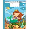 Primary Journal Grades K-2: Primary Composition Notebook : Happy Mermaid With Pearl School Story Specialty Handwriting Paper Dotted Middle Line (Series #3) (Paperback)