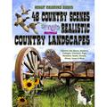 Life Escapes Adult Coloring Books: Adult Coloring Books 48 Country Scenes Realistic Country Landscapes : Relaxing in Country Life with Barns, Gardens, Cottages, Farm Animals, Chickens, Roosters, Horses, Cows, Pigs, Goats, Sheep & More (Series #4)...