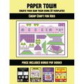 Cheap Craft for Kids: Cheap Craft for Kids (Paper Town - Create Your Own Town Using 20 Templates) : 20 full-color kindergarten cut and paste activity sheets designed to create your own paper houses. The price of this book includes 12 printable PDF...