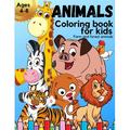 ANIMALS Coloring book for kids ages 4-8: Amazing Kids Coloring book with beautiful farm and forest animals Animal Coloring Book for Kids Great Gift for Boys and Girls Animal Coloring book for children