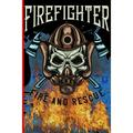 Fire Figther: Firefighter Fire And Rescue : The notebook for each fireman and friend of the fire brigade firefigther. (Series #1) (Paperback)