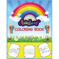 Rainbow Coloring Book : Big, simple and easy Rainbow coloring book for kids, girls and toddlers. Large pictures with cute rainbows, stars, ... wings. (Paperback)