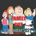 FAMILY GUY calendar 2021: Family Guy Calendar 2021/2021 with Images of the Famous Family Guy 16months 8.5x8.5 Glossy (Paperback)