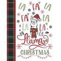 Fa La Fa La La La La La Llama Christmases : Llama Gift For Girls - Art Sketchbook Sketchpad Activity Book For Kids To Draw And Sketch In (Paperback)