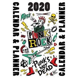 2020 Punk Rock Calendar & Planner: Punk's Not Dead (Paperback)